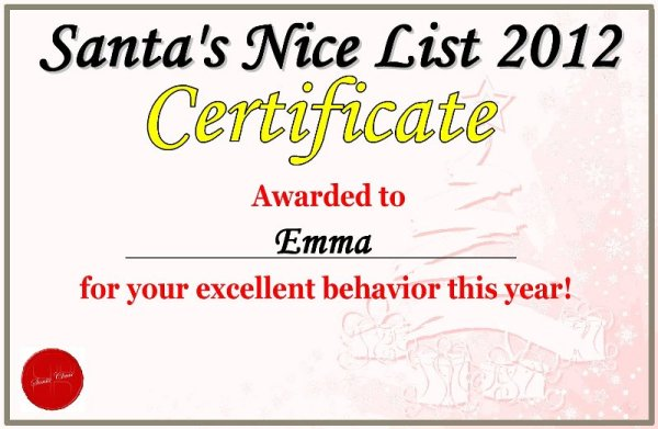 Yay! I made Santa's Nice List!